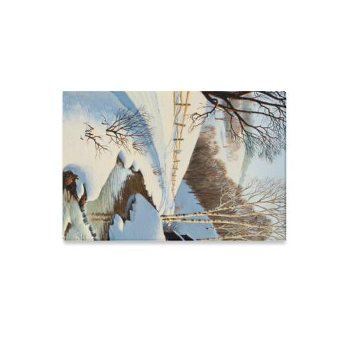 "Beautiful Paintings Of Nature Winter Scenery Canvas Print 12""x18"""