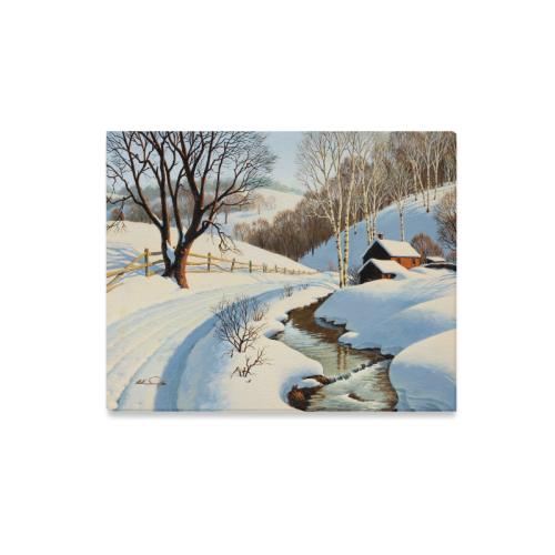 "Beautiful Paintings Of Nature Winter Scenery Canvas Print 20""x16"""