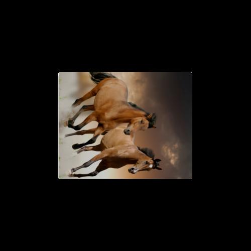 """Personlized Animal Series Design Wild Horse Runnin Canvas Print 8""""x10"""""""