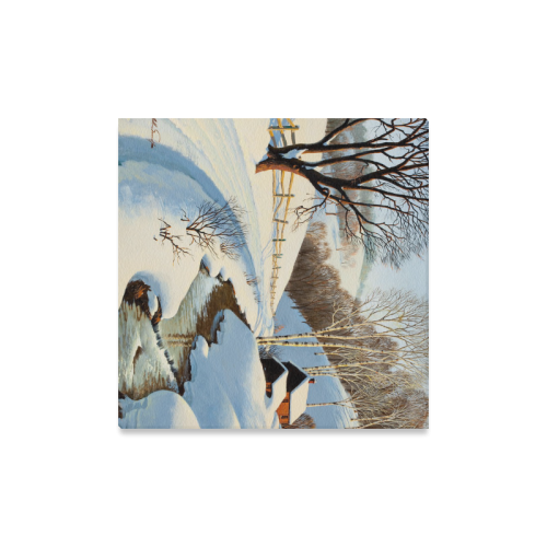 """Beautiful Paintings Of Nature Winter Scenery Canvas Print 16""""x16"""""""