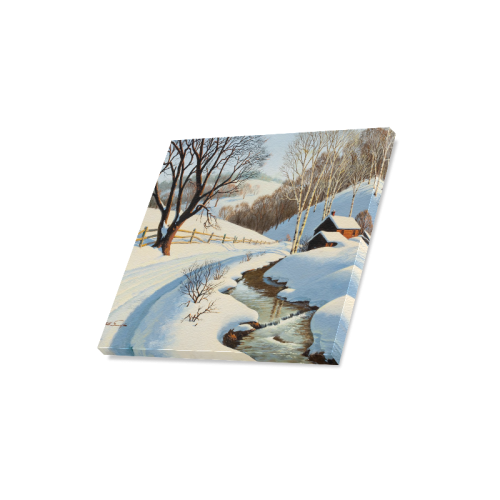 "Beautiful Paintings Of Nature Winter Scenery Canvas Print 16""x16"""