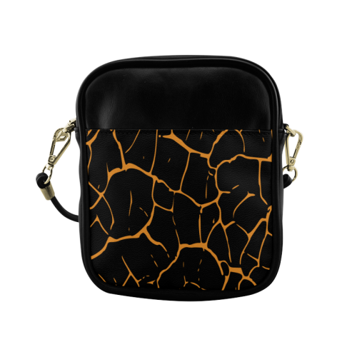 abstract animal skin Sling Bag (Model 1627)