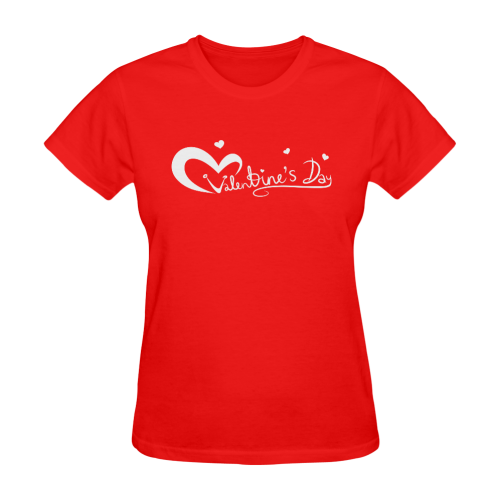 val_day_white Sunny Women's T-shirt (Model T05)