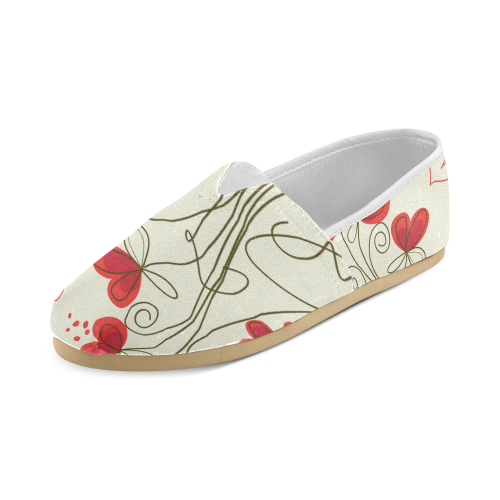 flower Unisex Casual Shoes (Model 004)