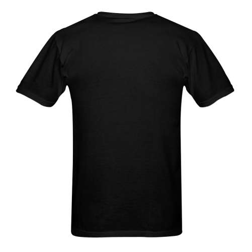 AC DC Back In Black Cool Yet Stylish Design Sunny Men's T- shirt (Model T06)