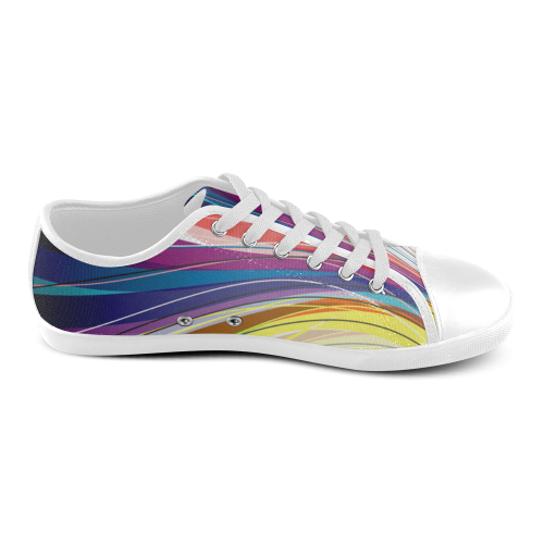 line Women's Canvas Shoes (Model 016)
