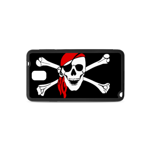 Happy Snile Skull Pirate Clip Art Custom Rubber Case for Samsung Galaxy Note 3