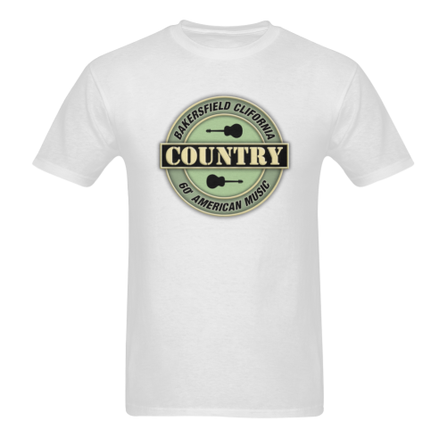 Bakersfield  California Country  Vintage Sunny Men's T- shirt (Model T06)