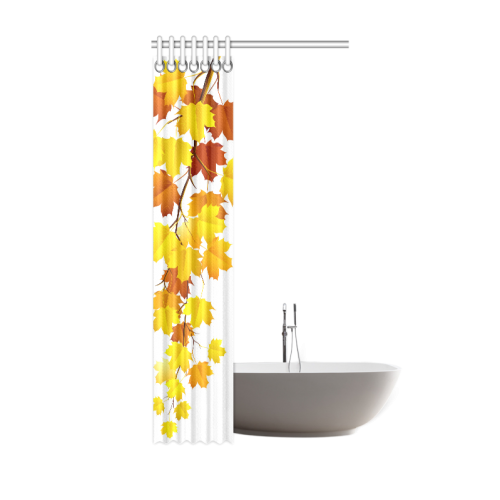 "Autumn Season Maple Leaves Natural Scenery Shower Curtain 36""x72"""