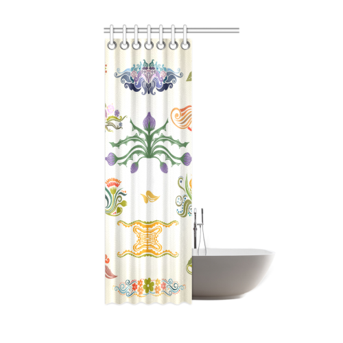 "Best Gift To Friends Thistle Flower Custom Design Shower Curtain 36""x72"""