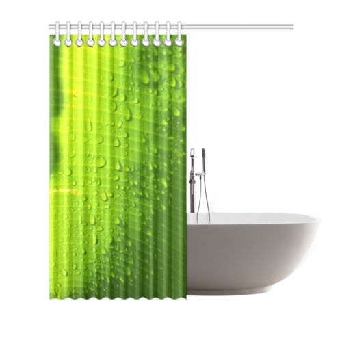 "Beautiful Unique Design Banana Leaves Pattern Shower Curtain 66""x72"""