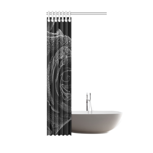 "Black Rose Shower Curtain 36""x72"""