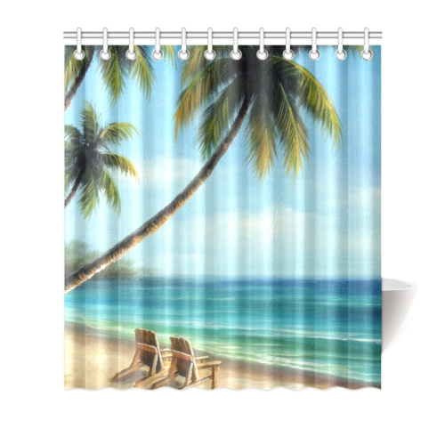 "Beach Shower Curtain 66""x72"""