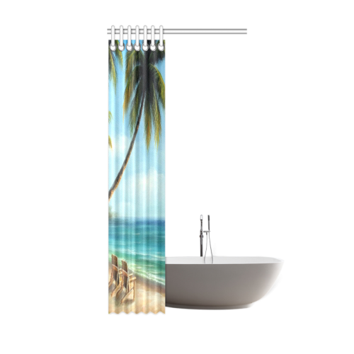"""Beach Shower Curtain 36""""x72"""""""