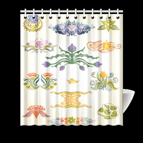 "Best Gift To Friends Thistle Flower Custom Design Shower Curtain 66""x72"""