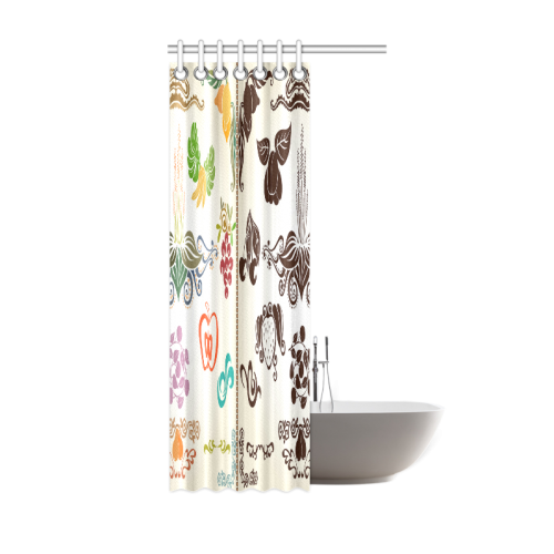 "Beautiful Plant Pattern Hot Sale Artsadd Design1 Shower Curtain 36""x72"""