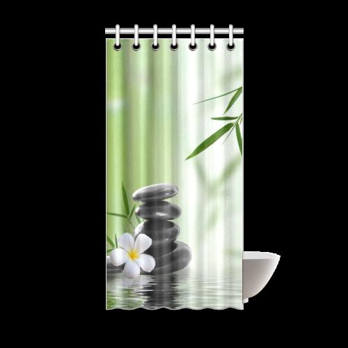 "Bamboo Shoot Pattern Plain Jane Design Shower Curtain 36""x72"""