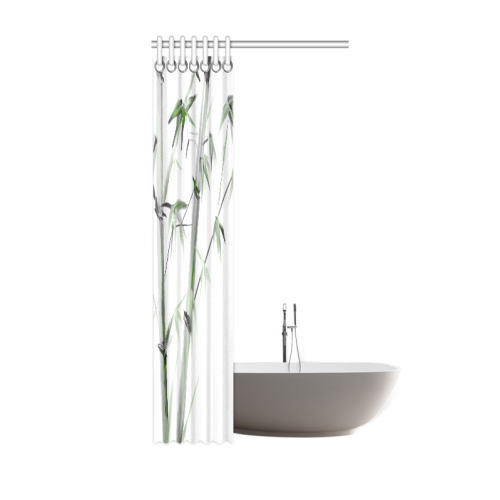 """Bamboo Painting Watercolor Pattern Design Shower Curtain 36""""x72"""""""