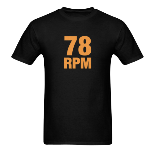 78 RPM  Orange Sunny Men's T- shirt (Model T06)