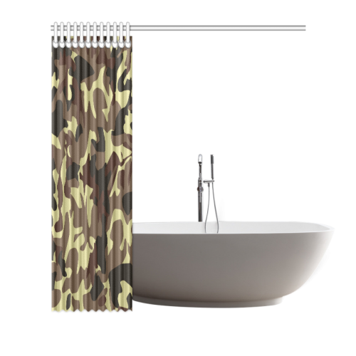"Army Camouflage Shower Curtain 66""x72"""