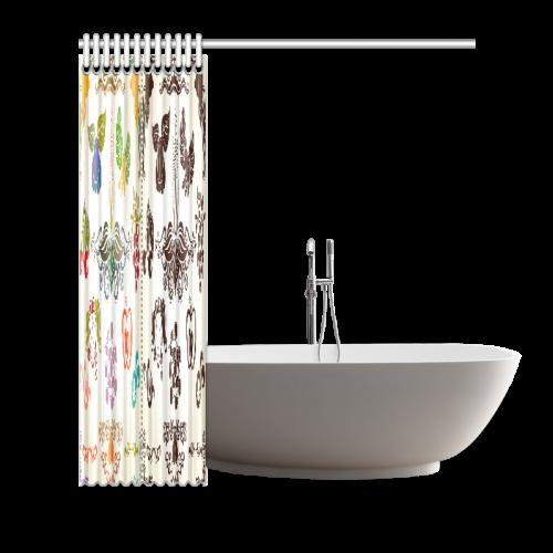 "Beautiful Plant Pattern Hot Sale Artsadd Design1 Shower Curtain 66""x72"""