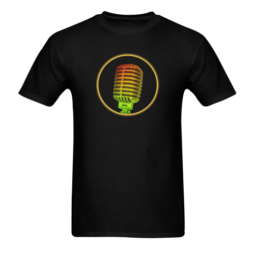 Vintage Microphone Colorful Sunny Men's T- shirt (Model T06)