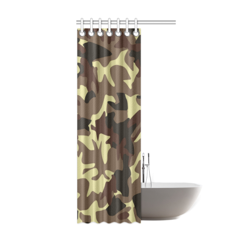"Army Camouflage Shower Curtain 36""x72"""