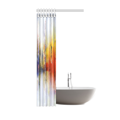 "Abstract Colorful Paintings or Graffiti Design Shower Curtain 36""x72"""
