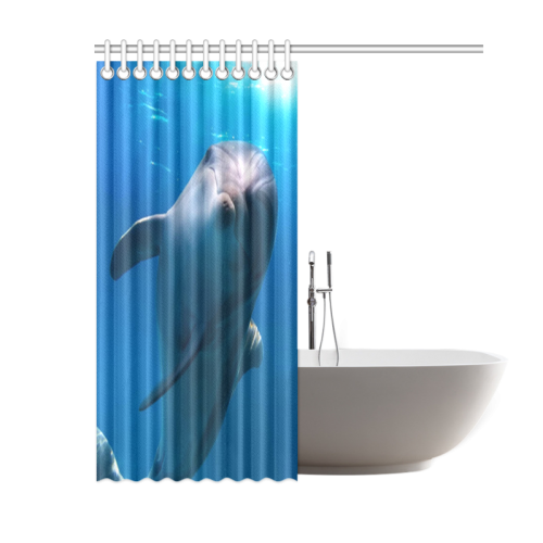 """Lovely Gentle Dolphins Shower Curtain 60""""x72"""""""