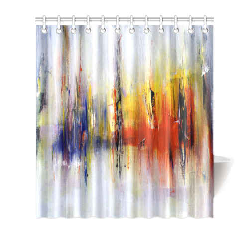 "Abstract Colorful Paintings or Graffiti Design Shower Curtain 66""x72"""