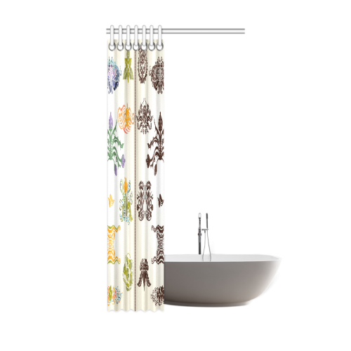 "Beautiful Plant Pattern Hot Sale Artsadd Design Shower Curtain 36""x72"""