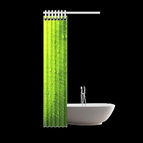 "Beautiful Unique Design Banana Leaves Pattern Shower Curtain 36""x72"""