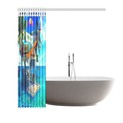 "Anime Scenery Shower Curtain 66""x72"""