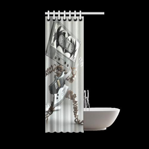 """3D-Music Shower Curtain 36""""x72"""""""