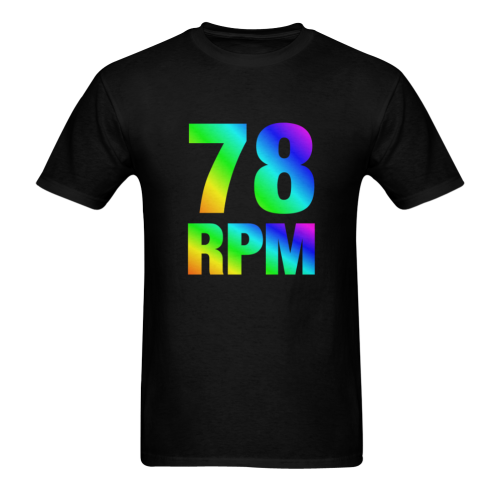 78 RPM  Colorful Sunny Men's T- shirt (Model T06)