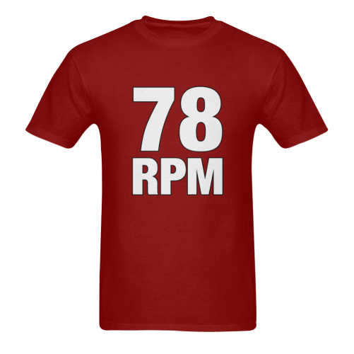 78 RPM  White Sunny Men's T- shirt (Model T06)
