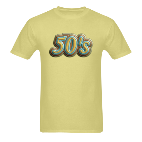 50's Vintage Rubber Sunny Men's T- shirt (Model T06)