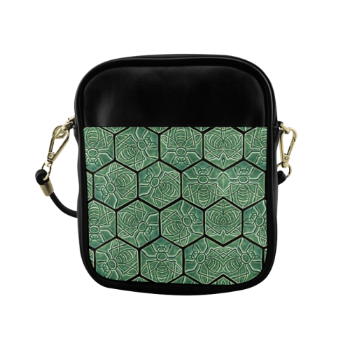 Bees rule abstract pattern Sling Bag (Model 1627)