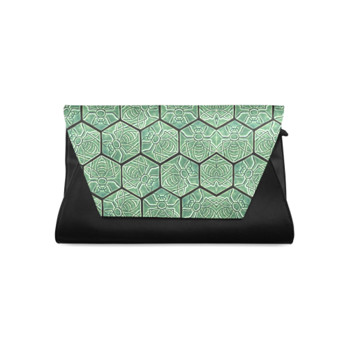 Bees rule abstract pattern Clutch Bag (Model 1630)