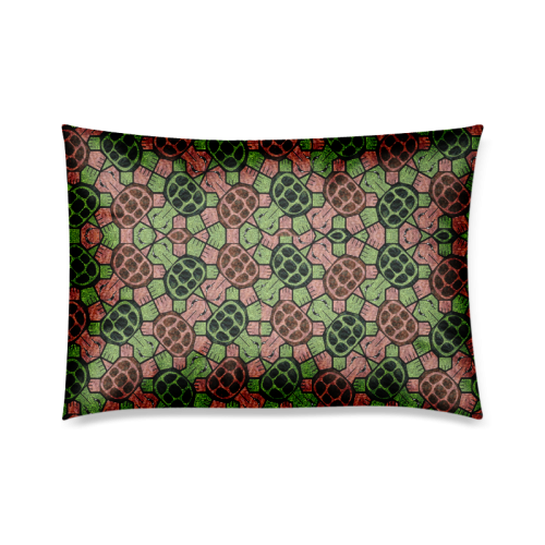 "Abstract pattern turtle rules Custom Zippered Pillow Cases 20""x30""(Twin Sides)"