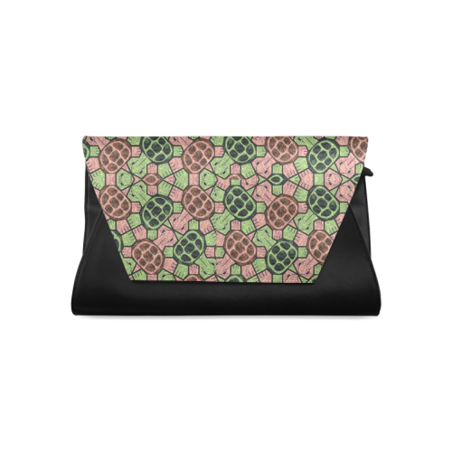 Abstract pattern turtle rules Clutch Bag (Model 1630)