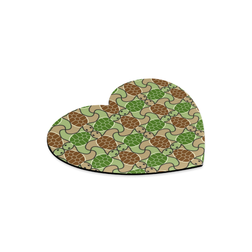 Cute turtle abstract pattern Heart-shaped Mousepad