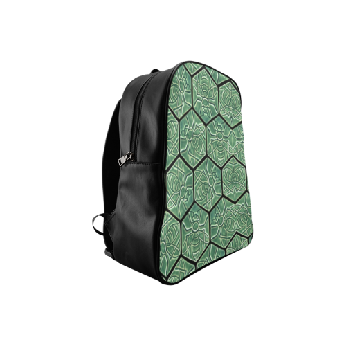 Bees rule abstract pattern School Backpack/Large (Model 1601)
