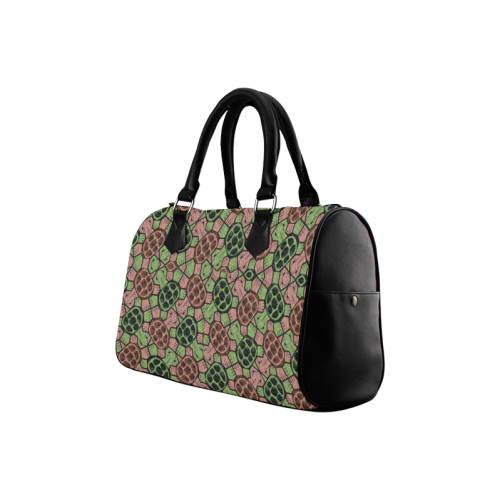 Abstract pattern turtle rules Boston Handbag (Model 1621)