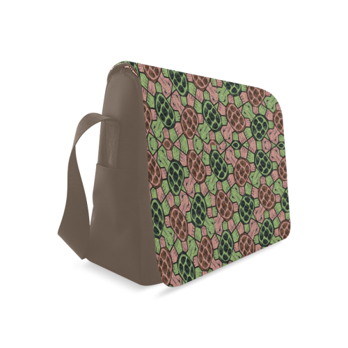 Abstract pattern turtle rules Messenger Bag (Model 1628)