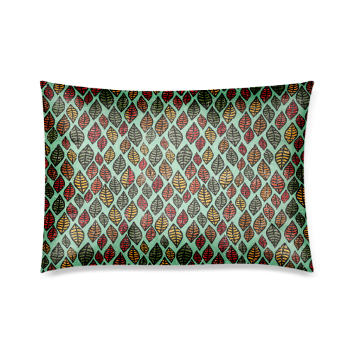 "Beautiful leaf color Custom Zippered Pillow Cases 20""x30""(Twin Sides)"