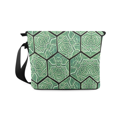 Bees rule abstract pattern Crossbody Bag/Large (Model 1631)
