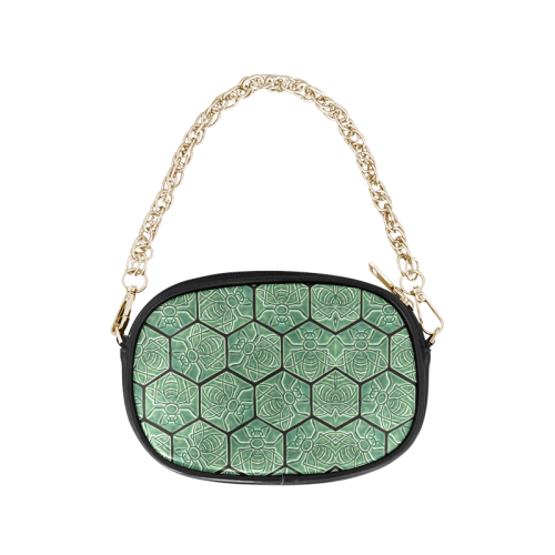 Bees rule abstract pattern Chain Purse (Model 1626)