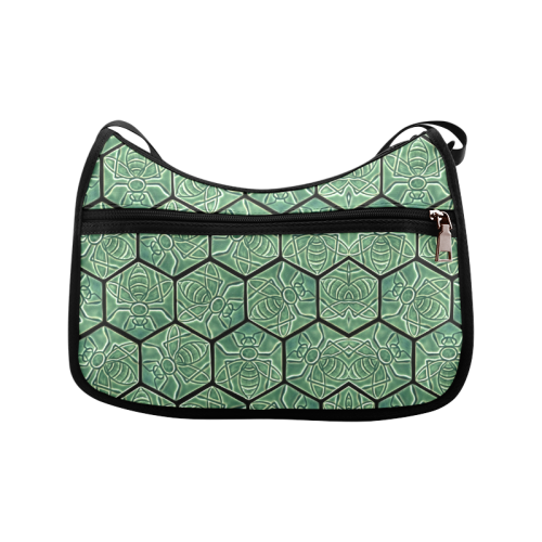 Bees rule abstract pattern Crossbody Bags (Model 1616)
