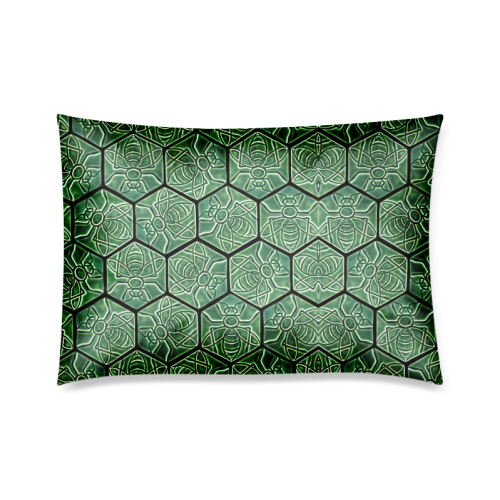 """Bees rule abstract pattern Custom Zippered Pillow Cases 20""""x30""""(Twin Sides)"""